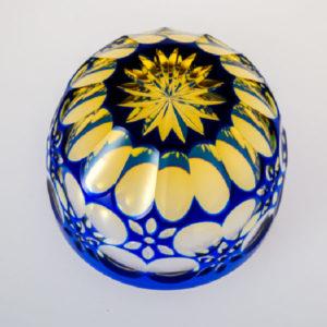 猪口 万華鏡 瑠璃/琥珀