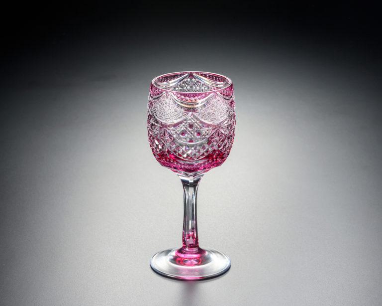 ワイングラス カーテンコール 金赤