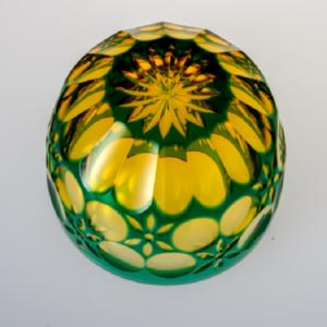 猪口 万華鏡 緑/琥珀