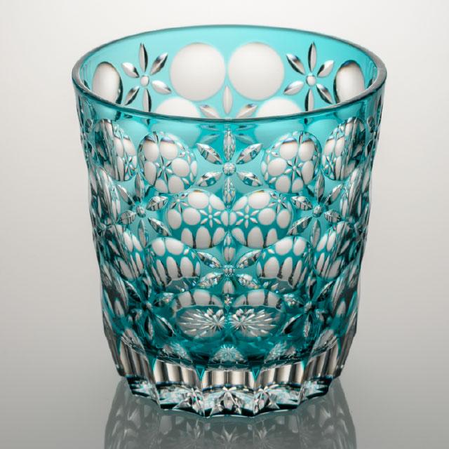 オールドグラス 万華鏡 緑