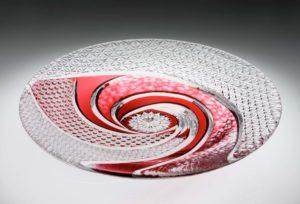 風 金赤 クリスタルガラス