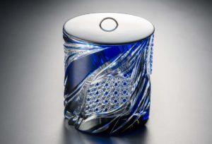 焔 藍 クリスタルガラス