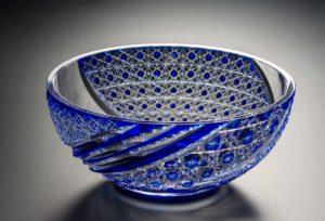 月風 瑠璃 クリスタルガラス