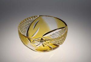 風、薫る 黄 クリスタルガラス
