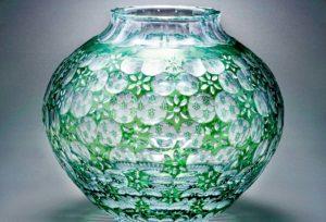 万華鏡 緑 クリスタルガラス
