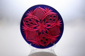 硝華(しょうか) 金赤/瑠璃 クリスタルガラス