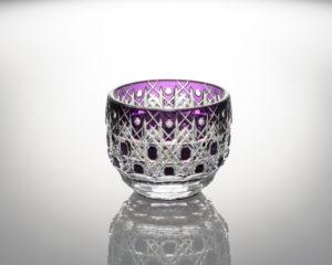 猪口 八角籠目華やぎ 紫