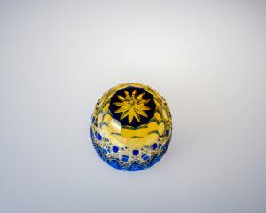 猪口 八角籠目華やぎ 瑠璃/琥珀
