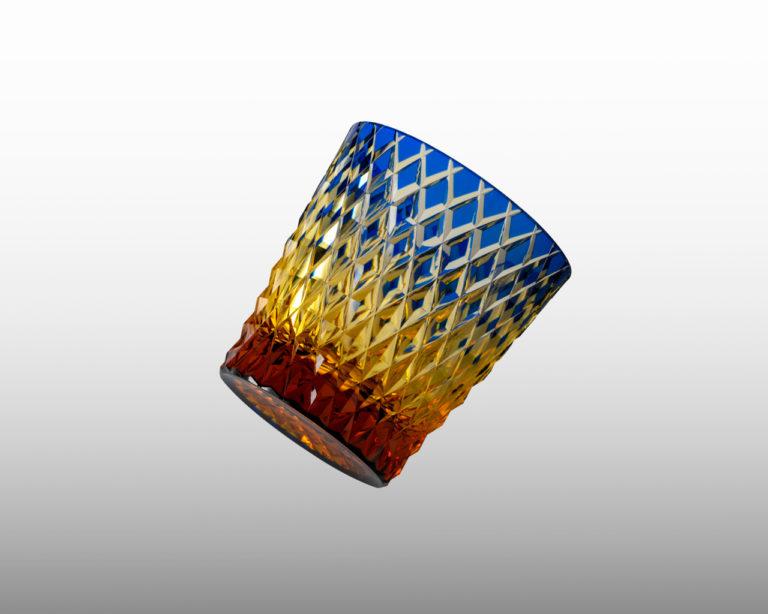 オールド 竹編み 瑠璃/琥珀